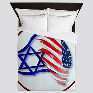 Stand With Isreal Circle Trans- Queen Duvet